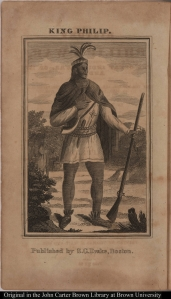 "Portrait of ""King Philip"" Courtesy of the John Carter Brown Library"
